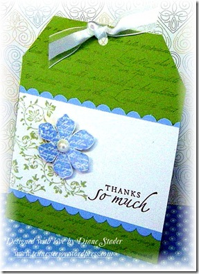 TLC263 Very Vintage Thank You Tag